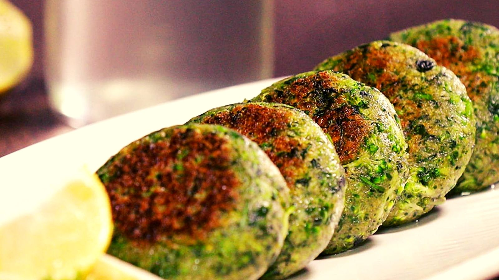 Broccoli sweet potato tikki